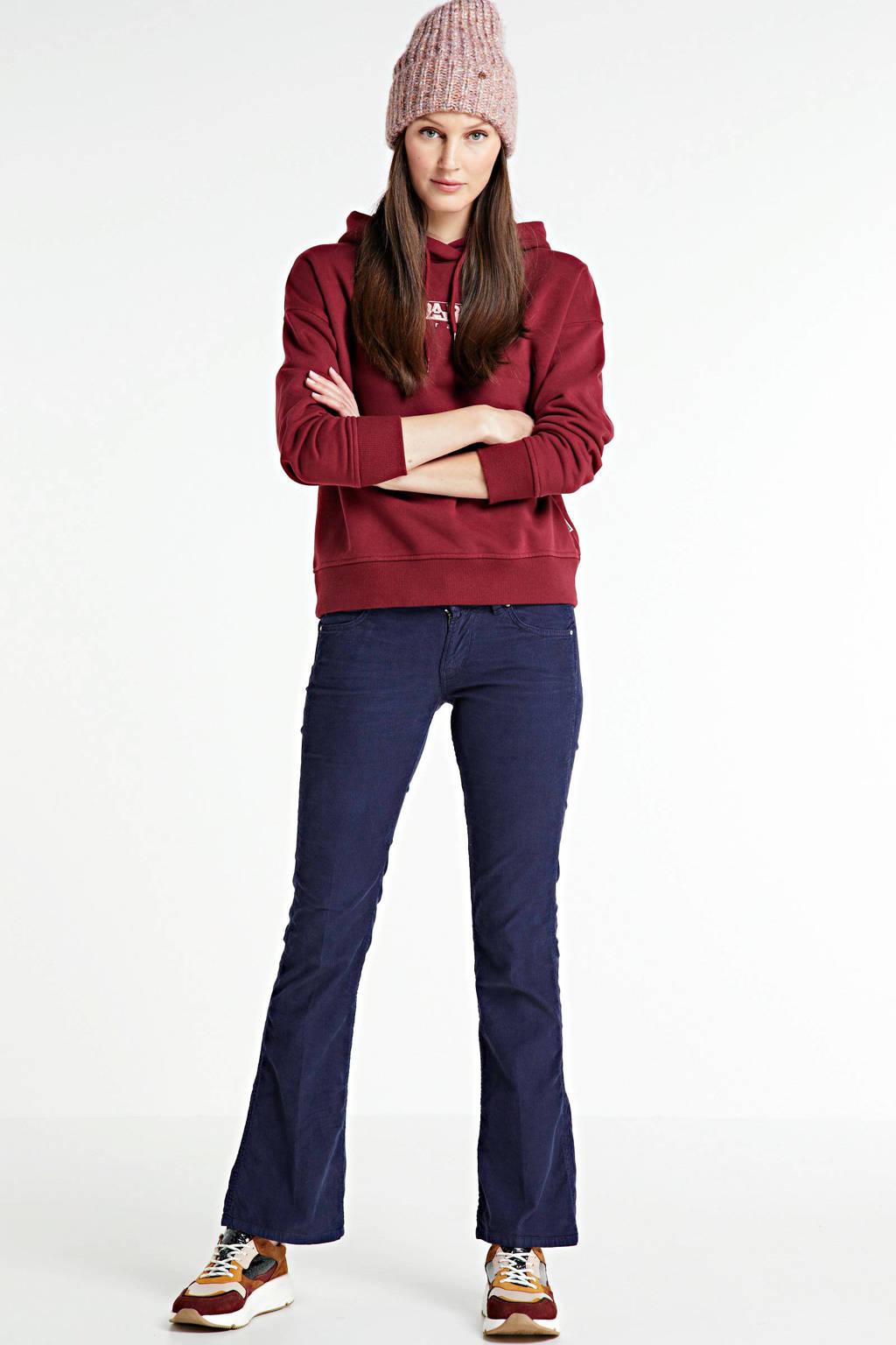 Napapijri regular fit hoodie Bebel met logo donkerrood, Donkerrood
