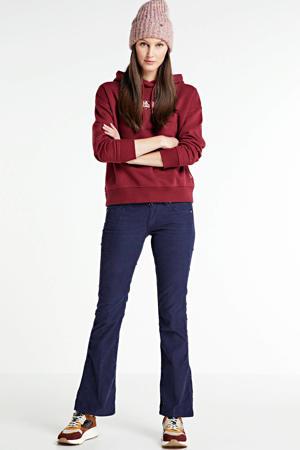 regular fit hoodie Bebel met logo donkerrood