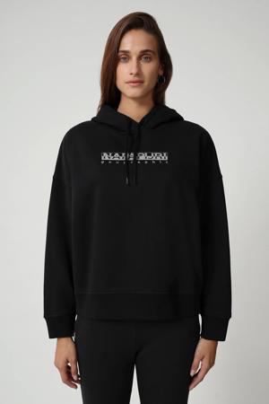 hoodie BEBEL H W BLACK 041 met logo black 041