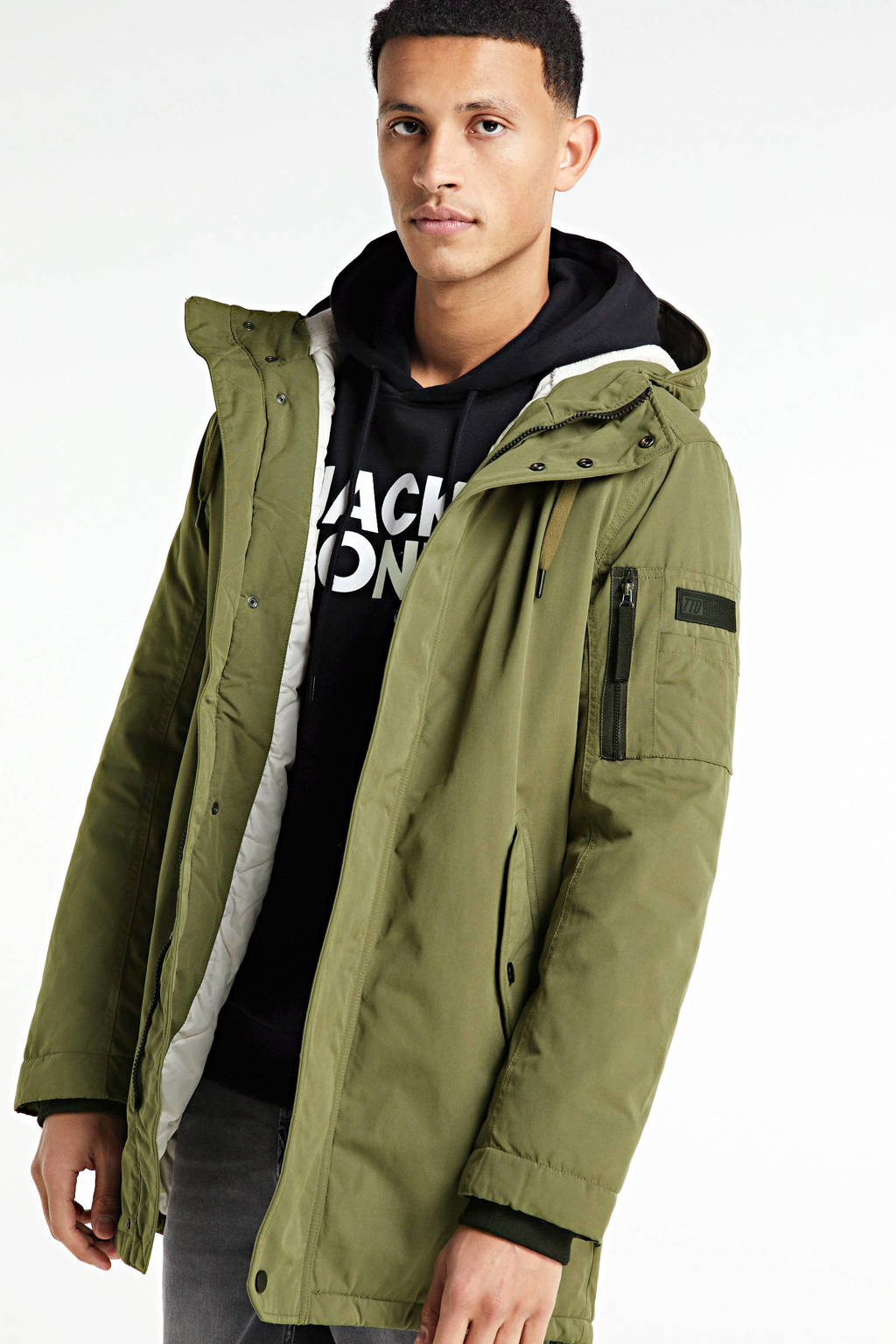 Tom Tailor parka legergroen, Legergroen