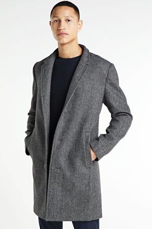 gemêleerde  jas met wol grijs