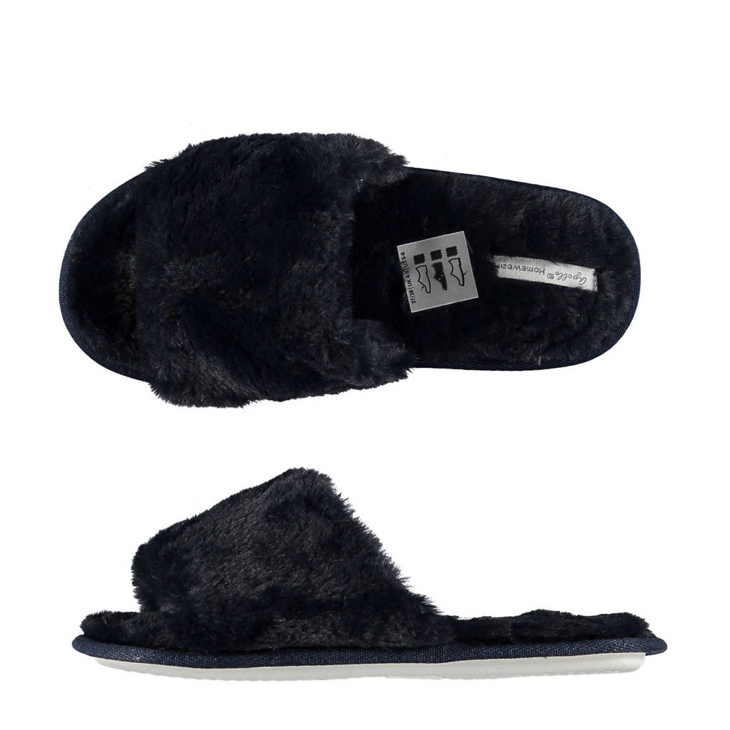 Apollo pantoffels zwart, Zwart