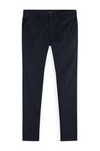 Scotch & Soda Mott slim fit pantalon met all over print navy, Navy
