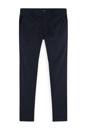 Mott slim fit pantalon met all over print navy