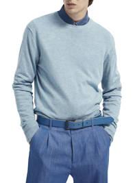 Scotch & Soda fijngebreide trui lichtblauw, Lichtblauw