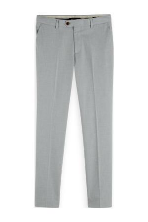 Mott slim fit pantalon lichtgrijs