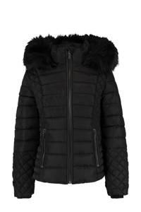 CoolCat Junior gewatteerde jas Jodie zwart, Zwart