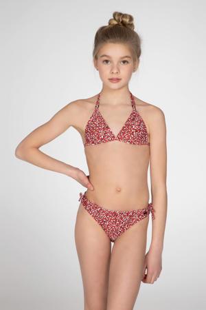 triangel bikini Susan met panterprint donkerrood