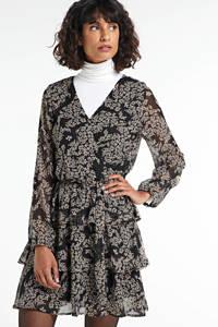 SisterS Point gebloemde semi-transparante jurk Nappa zwart, Zwart