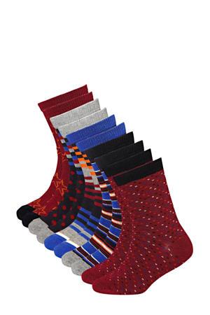 sokken (10 paar) rood