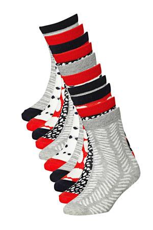 sokken - set van 10 rood