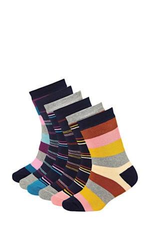 sokken (6 paar) roze/rood