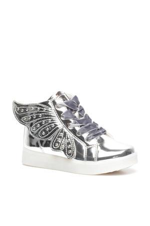 hoge sneakers zilver