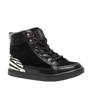 hoge sneakers met zebraprint zwart/wit