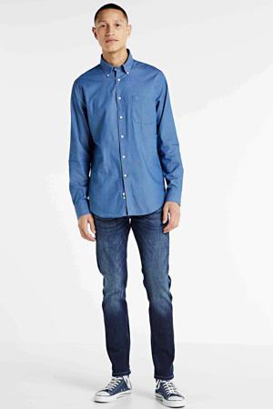 regular fit overhemd denim blauw