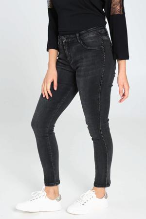 skinny jeans antraciet stonewashed