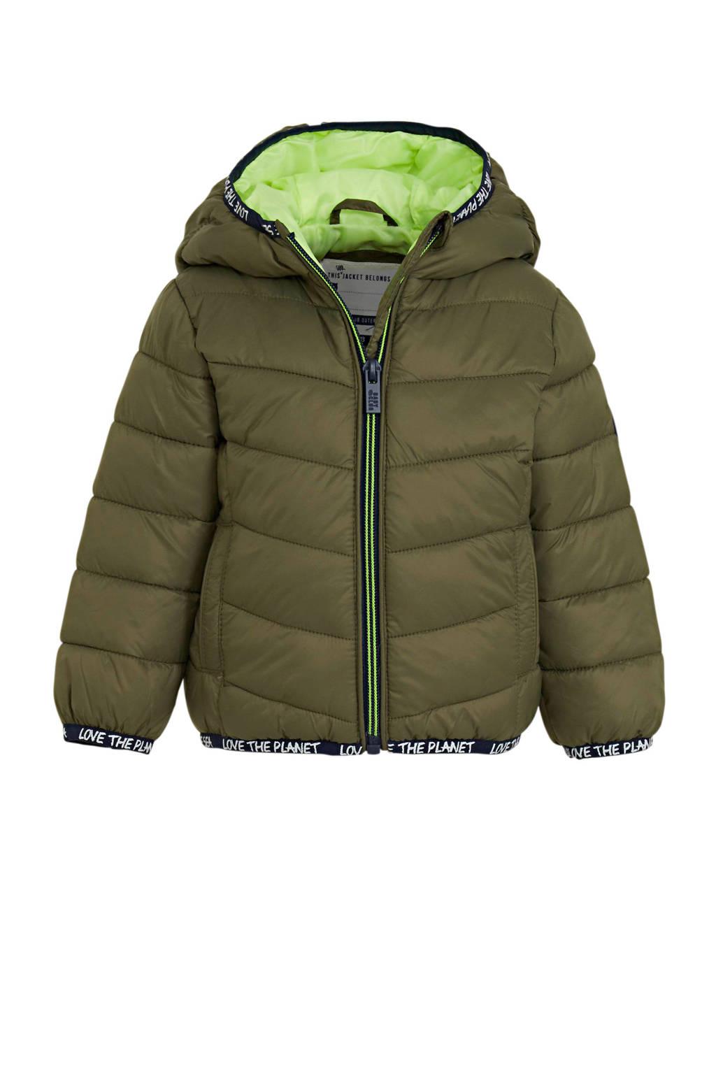 C&A Baby Club gewatteerde winterjas olijfgroen/groen, Olijfgroen/Groen