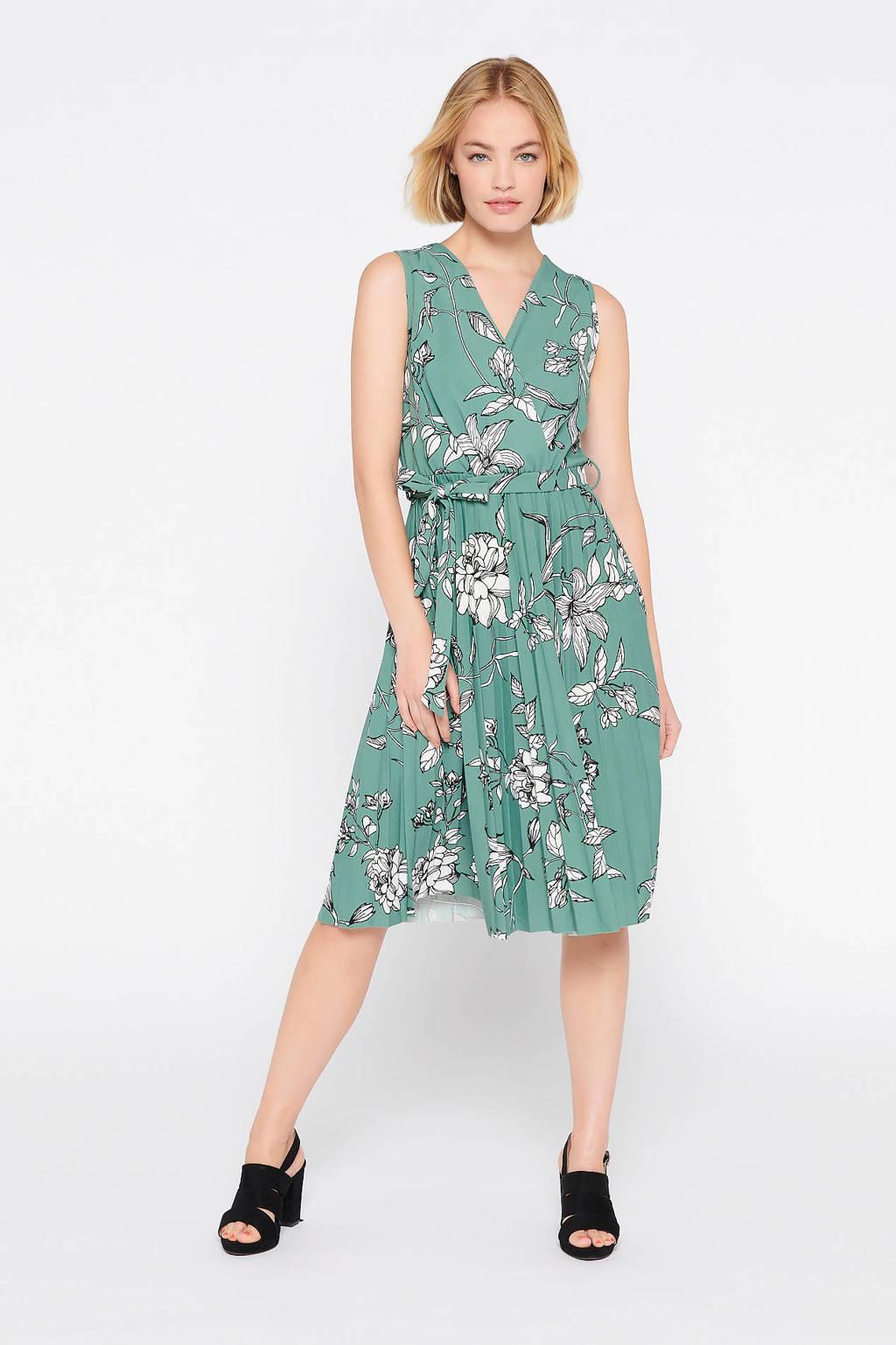 LOLALIZA gebloemde jurk groen, Groen