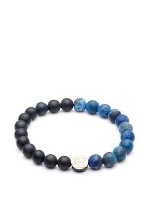 armband SL220039 blauw/zwart (8 mm)