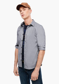 s.Oliver slim fit overhemd antraciet, Antraciet