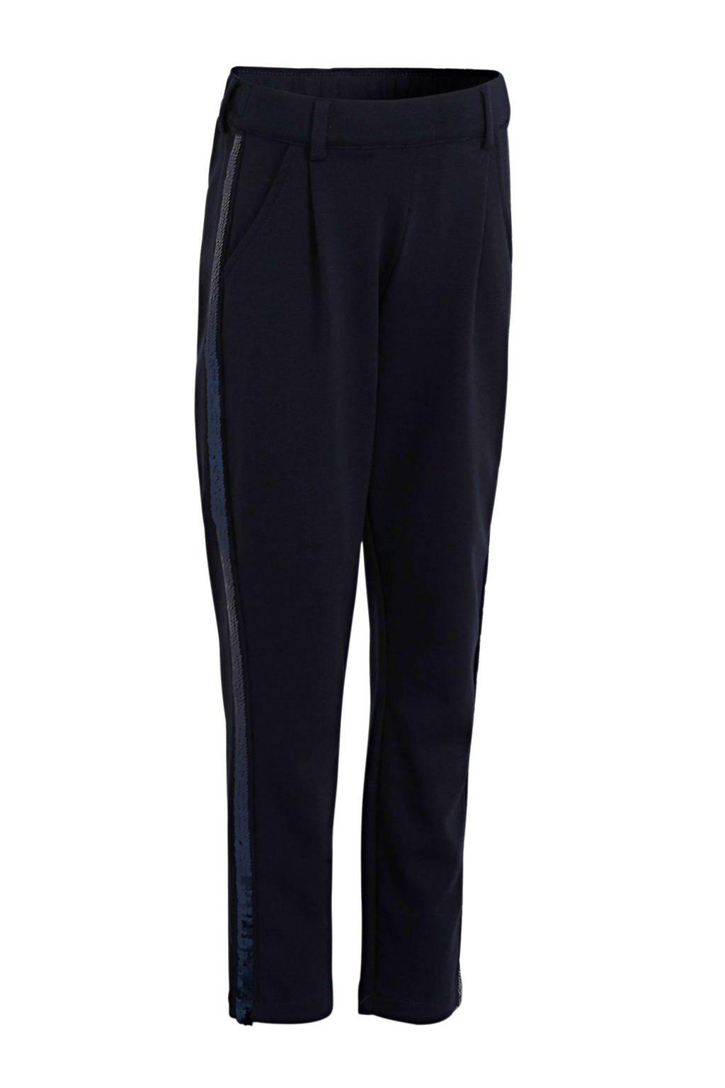 s.Oliver broek met zijstreep donkerblauw, Donkerblauw