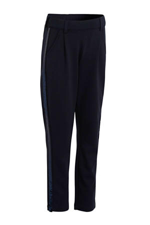 broek met zijstreep donkerblauw