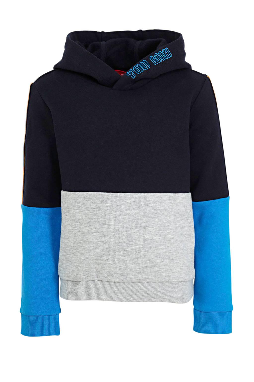 s.Oliver hoodie donkerblauw/blauw/grijs, Donkerblauw/blauw/grijs