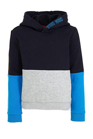 hoodie donkerblauw/blauw/grijs