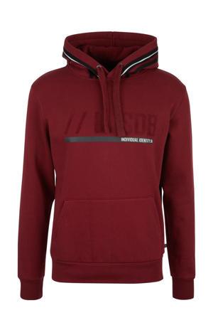 hoodie met printopdruk donkerrood