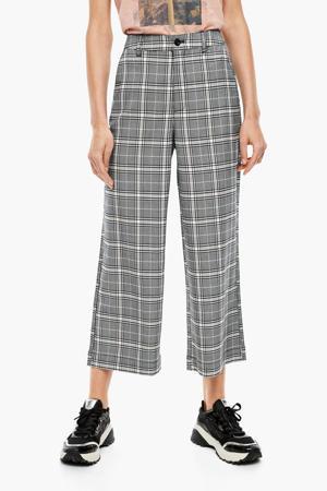 geruite high waist culotte grijs/beige