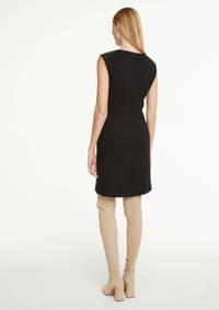 comma imitatieleren jurk zwart, Zwart