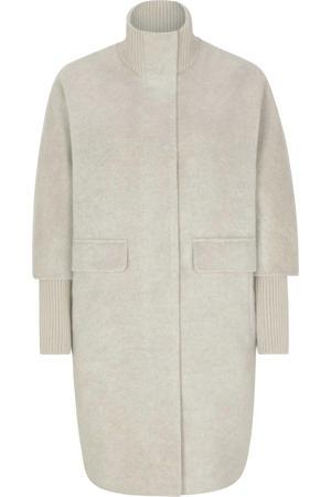coat tussen met wol ecru