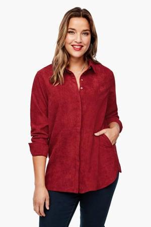 corduroy blouse rood