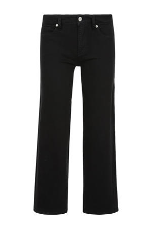 cropped straight fit broek zwart