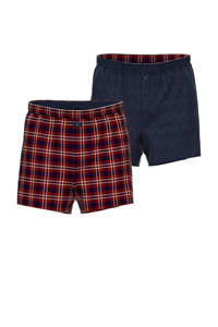 s.Oliver boxershort rood/zwart (set van 2), Rood