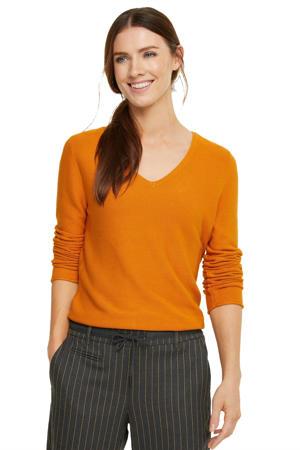 trui met textuur oranje
