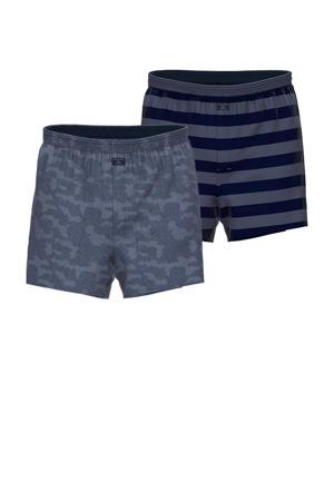 boxershort donkerblauw (set van 2)