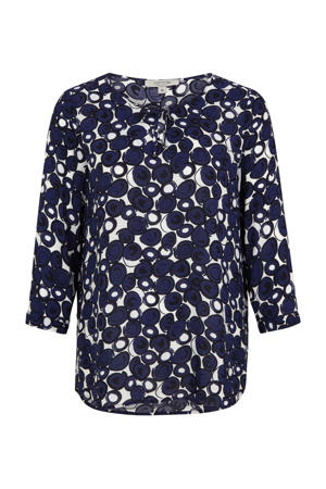 blouse met all over print wit