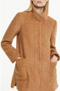 comma coat tussen met textuur camel, Camel