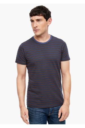 gestreept T-shirt blauw