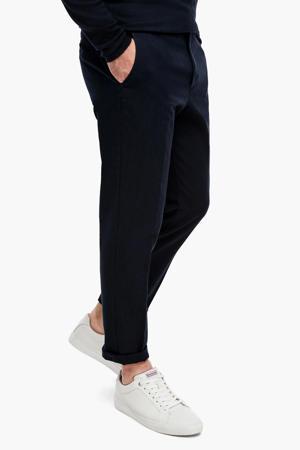 gemêleerde slim fit pantalon marine