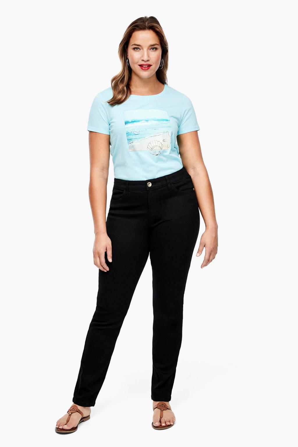 TRIANGLE slim fit jeans zwart, Zwart