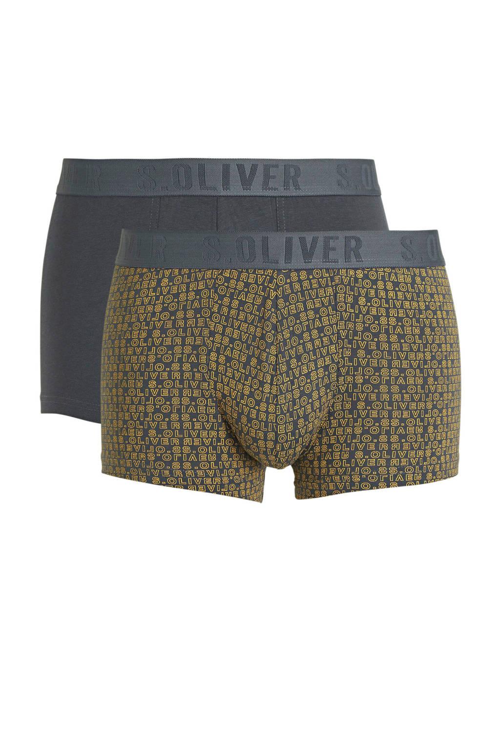 s.Oliver boxershort (set van 2), Zwart/geel