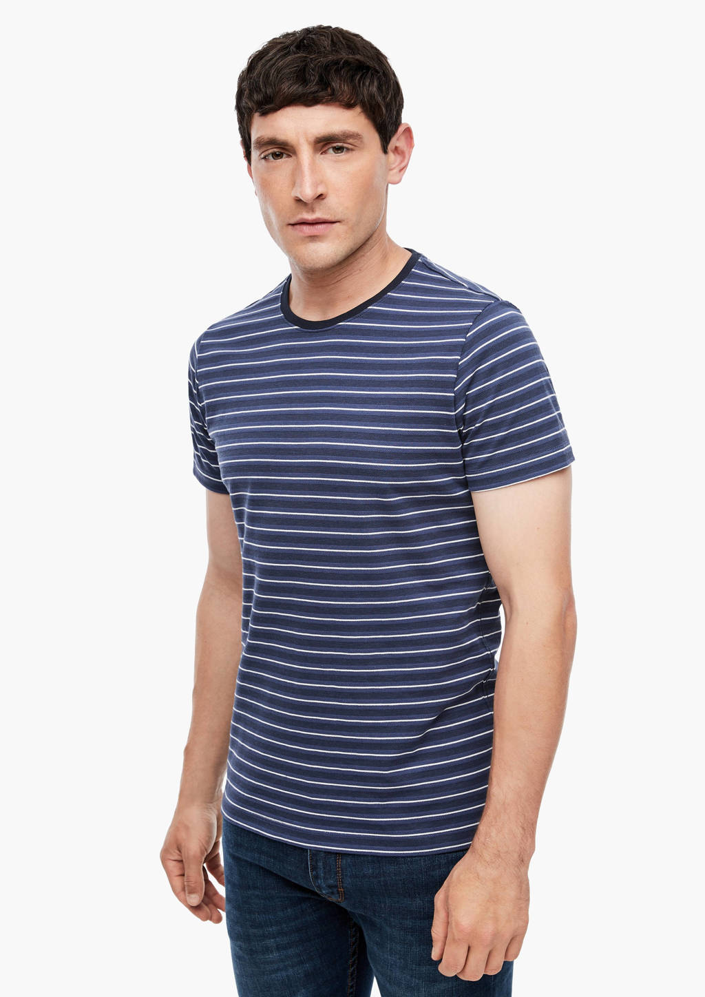 s.Oliver gestreept T-shirt donkerblauw, Donkerblauw