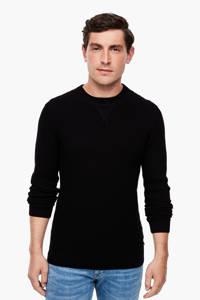 Q/S designed by trui met textuur zwart, Zwart