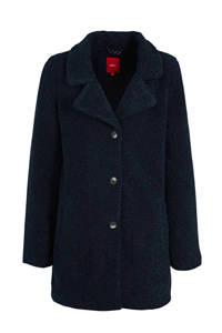 s.Oliver teddy winterjas donkerblauw, Donkerblauw
