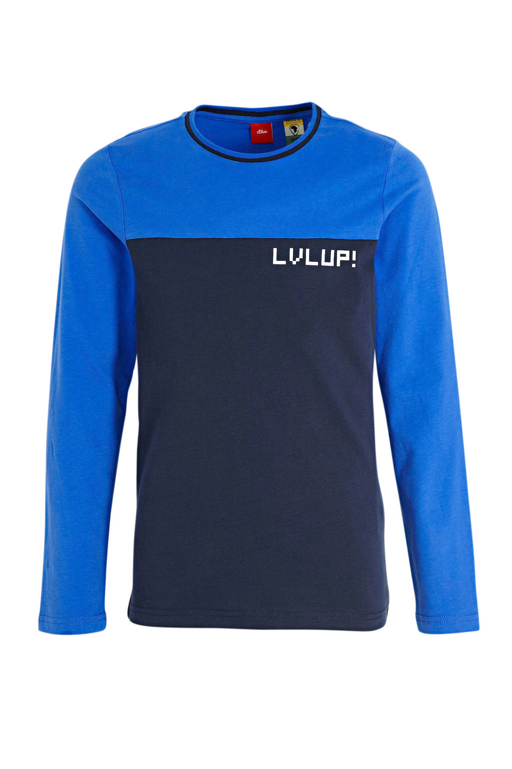 s.Oliver T-shirt donkerblauw/blauw/wit, Donkerblauw/blauw/wit