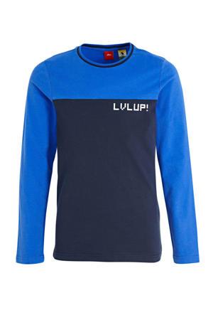 T-shirt donkerblauw/blauw/wit