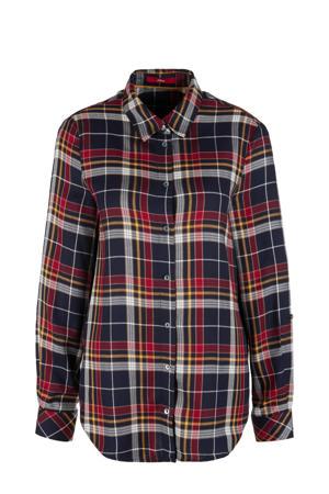 geruite blouse marine/rood/geel