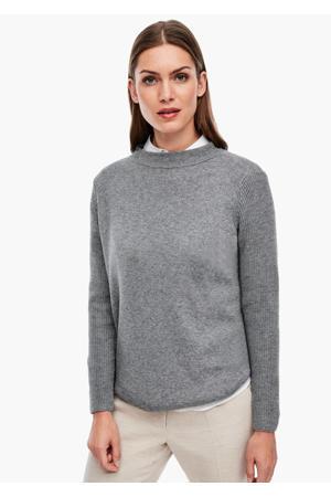 gebreide trui met wol lichtgrijs